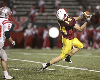 ROBERT  K.  YOSAY  | THE VINDICATOR --..Cardinal Mooney Cardinals vs Canal Fulton Northwest Indians at Stambaugh Stadium in the Regional Quarterfinals .--30-..(AP Photo/The Vindicator, Robert K. Yosay)