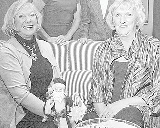 "William D. Lewis | The Vindicator: Awaiting the Holiday Brunch and Sweet Shoppe as well as ""Magic of the Angels Christmas"" are, in front, from left, Judy Kimmel and Jacie Ridel, and in back, Jeannine Hodge and Carol O'Neill."