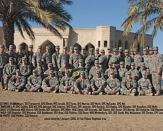 Jason Reckard of Canfield submitted this photo, saying he was proud to have served in Baghdad, Iraq, with the men and women of the Mahoning Valley's 583rd Law and Order Detachment in 2008 and 2009.