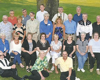 Columbiana Class of 1966 recently had a 45th reunion at the home of Bob and Betty Belding at Firestone Farms. Forty-six classmates and guests attended. Classmates are, left to right, front row: Gerald Smith, Valerie (Powers) Mayo and Paul Morse; second row: Linda (Detwiler) Seidner, Janis (McGuckin) Harrer, Kathy (Smith) Laing, Karen (Orr) Buchmann, Marty (Candle) Koehler, Judy (Browning) Martz, Margie (Wilhelm) Focht, Cheryl (Carrol) Snyder, Joyce (Scott) Rohm and Ruth Biddle; third row: Larry Richardson, Marta (Vestfals) Stanfield, Fred Maurer, Niki (Cope) Robbins, Betty (Snodgrass) Belding, Dave Bevan, Dave Rowland and Nick Burkert; fourth row: Ron Detwiler, Frank Franklin, Doug Knisley, Lee Davis and Allen Grate.