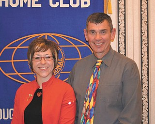 Kiwanis club officers: The Kiwanis Club of Youngstown recently installed its 2011-2012 officers. From left to right are Rachael Ramps, president; and Alan Harper, president-elect. Ramps is an assistant manager at Boardman Sam's Club, and Harper is principal of Stambaugh Charter Academy. The club also celebrated its 95th anniversary of serving children and the community recently.