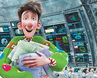"""Arthur, voiced by James McAvoy, is shown in a scene from """"Arthur Christmas."""""""
