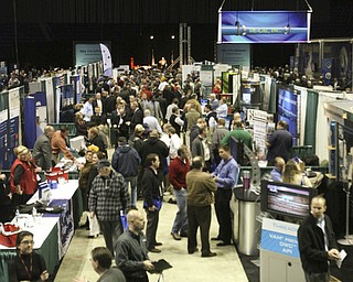 "ROBERT K. YOSAY | THE VINDICATOR..The Main concourse at - ""The YOUNG 2011 Conference and Expo Ñ the first Utica shale play conference in the state of Ohio Ñ is a dedicated B2B conference in which national and local companies can exhibit their products and interact with key players in the burgeoning Utica and Marcellus supply chain. at the Covelli Centre .. .-30"