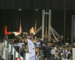 "ROBERT K. YOSAY | THE VINDICATOR..Atty - Eric Johnson with Johnson and Johnson of  Canfield - answers   questions for the crowd - .""The YOUNG 2011 Conference and Expo Ñ the first Utica shale play conference in the state of Ohio Ñ is a dedicated B2B conference in which national and local companies can exhibit their products and interact with key players in the burgeoning Utica and Marcellus supply chain. at the Covelli Centre .. .-30"