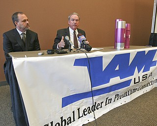 "ROBERT K. YOSAY | THE VINDICATOR..ÒMost of our hiring will be done locally,Ó said Judson Wallace, president of VAM, an affiliate of Vallourec..The announcement means that by 2013, Vallourec will have invested more than $700 million and created nearly 500 new jobs in the Mahoning Valley..The newest facility will be a finishing plant, which will allow VAM to thread pipe produced from the $650 million mill..V&M will renovate a 200,000-square foot building thatÕs currently in the Cooperative Agreement Zone along the Youngstown-Girard border. The company expects the plant to open in mid-2012 and that it will be fully operational by 2013..Joel Mastervich, COO of V&M Star is on the left with mustache and beard. .""The YOUNG 2011 Conference and Expo Ñ the first Utica shale play conference in the state of Ohio Ñ is a dedicated B2B conference in which national and local companies can exhibit their products and interact with key players in the burgeoning Utica and Marcellus supply chain. at the Covelli Centre .. .-30"