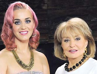 "Singer Katy Perry was picked by Barbara Walters as one of ""The 10 Most Fascinating People of 2011."""