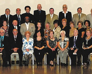 Campbell Memorial class marks 55th: Campbell Memorial High School Class of 1956 celebrated its 55th reunion recently. A Friday night football game was followed by a pizza party at Belleria in Campbell; a dinner dance took place Saturday night at Archangel Michael Community Center; and a Sunday brunch at Bruno's Restaurant in Boardman concluded the weekend. Classmates are shown above, from left to right. Row 1: Organizing committee members Mike Kotyuha, Jim Cioffi, Don Conti, Laurissa Sirilla Rusnak, Andrea Wolfe Pringle, Cecilia Hudran Bogan, Jean Hudack Stephenson, Ron Hudach, Betty Stellmar Simchick and Elaine Misko Moskosky.