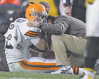 The Cleveland Browns failure to thoroughly assess the condition of quarterback Colt McCoy on the field or sideline at Heinz Field has prompted the NFL to institute a policy of having an independent certified trainer, paid by the league, in the press box at games to monitor for head injuries and help identify players who need to be tested. McCoy sustained a concussion when he was hit by Pittsburgh Steelers OL James Harrison, and is still 