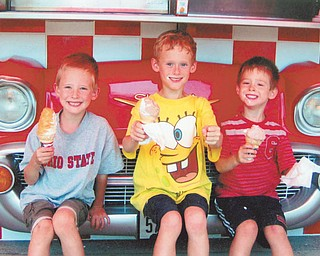Mary Ann Sweder of Struthers sent this picture of her grandsons, Jason, Ryan and Evan Sweder of Poland.