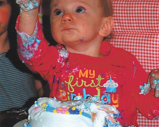 Lucy Raymond's (of Salem) first birthday in December 2011. Taken by Lana Van Auker of Canfield.