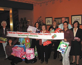 "Staff members of Trumbull County Probate Court received a heartfelt ""thank you"" from Trumbull County Children Services for providing gifts to children under their care this holiday season."