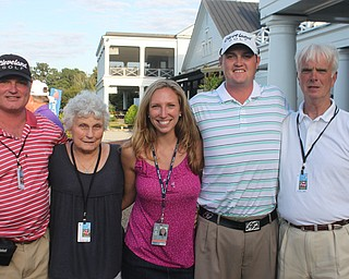 Jason Kokrak with family and friends at the Nationwide Tour Championship at Daniel Island, ending October 30, 2011.