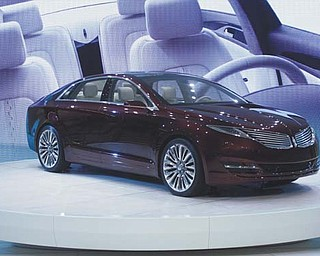The Lincoln MKZ concept car is unveiled at the North American International Auto Show in Detroit on Tuesday.