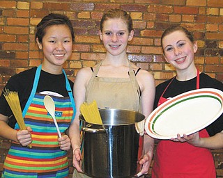 Ballet company serves spaghetti: Ballet Western Reserve will have a spaghetti dinner fundraiser from 11:30 a.m. to 4 p.m. Sunday in the church hall at St. Patrick Church, 1420 Oak Hill Ave., Youngstown. Some of the students who will serve are, from left, senior company members Maeli Foley, Caroline Ciferno and Jena Styka. Tickets will be sold at the door for $7 for adults and $3 for children 3 to 12, or can be purchased in advance by calling 330-744-1934. Children 2 and under eat free. There also will also be a basket auction and 50-50 raffle.