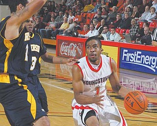 Youngstown State junior guard Blake Allen (1) has been getting in as much practice time as possible, and the extra work has paid off . The Penguins picked up two quality Horizon League wins over the weekend downing Milwaukee and Green Bay and Allen was named the conference's Player of the Week.