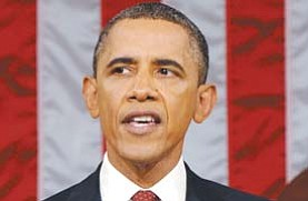 President Barack Obama delivers his State of the Union address in Washington on Tuesday.