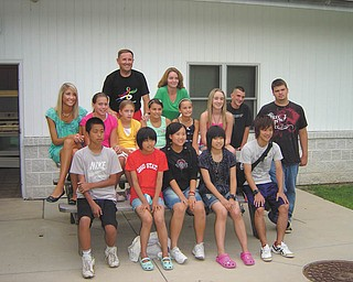 Mahoning, Columbiana and Trumbull counties' OSU Extension 4-H Exchange program is seeking families to host Japanese exchange students and chaperones this summer. Students and adults involved in last year's exchange gather here for a picture.