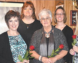 The Columbiana Business and Professional Women's Group inducted five new members at its Jan. 24 meeting. From left to right are President Lori Everly, Christina Sweeney (Mary Kay Cosmetics), Wendy Gavalier (Verizon), Joyce Lasky (independent Landstar agent), Ruth McCullagh (Kent State University) and Ashley Zehentbauer (Maurice's). The group meets the fourth Tuesday of most months. The meeting place changes, and guest speakers are always announced. For membership information call Everly at 330-853-5896. The cost is $43 per year. The organization has been promoting equity for women in the workplace through advocacy and professional development.