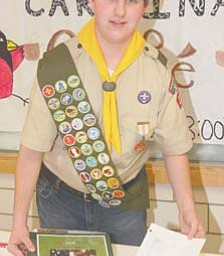 James Mullarkey, 16, of Canfield plans to build a 9/11 memorial at St. Michael Church in Canfield as his Eagle Scout project. Mullarkey plans to raise at least $4,000 to erect a 25-foot flagpole and memorial stone