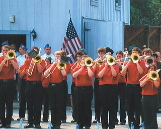 Lana VanAuker of Canfield sent in this photo of the Canfield Cardinals band performing at the War Vet Museum.