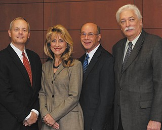 The Boardman Community Foundation recently elected officers who will serve in 2012. They are, from left, Mark Luke, vice president; Deborah Liptak, president; Jim Rosa, secretary; and Ron Chordas, treasurer.