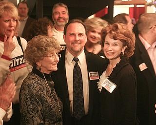 ROBERT K. YOSAY|THE VINDICATOR..election night...  David Ditzler   and his Mom Emo Gene and Wife Jenna  at the B&O ...-30-
