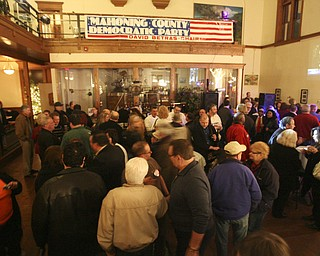 ROBERT K. YOSAY|THE VINDICATOR..election night...  at the B&O in Youngstown- democratic  HQ...-30-