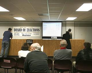 ROBERT K. YOSAY|THE VINDICATOR..election night...  ...-30-