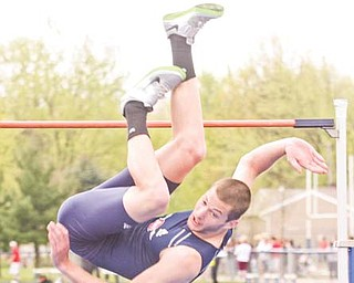 Jay Jakovina of Austintown Fitch High School goes into Saturday's state indoor track meet in Akron with the best qualifying height in Ohio: 6-foot-10, which is four inches better than any other in Division I.