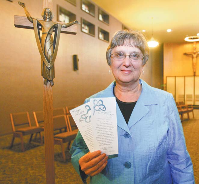 """Two prayers, """"Prayer for the Sick"""" and """"Caregivers' Prayer,"""" composed by Sandra Lucas, regional director of spiritual care for Humility of Mary Health Partners, were selected this year by the National Association of Catholic Chaplains for publication among its members."""