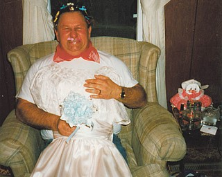 In the sport of fun, Fred Welshhans of Columbiana got all dolled up to go out with the help of (then) Kristen Cavanaugh. in February of 1997.