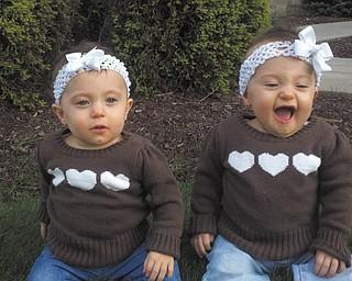 What's so funny? Here are Olive and Ellie Kotarski in a photo sent in by Jason Kotarski.