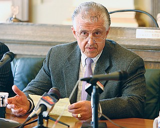 Mayor Charles P. Sammarone announces the dismissal of City Prosecutor Jay Macejko. The mayor said at a news conference Thursday in city hall he wasn't satisfied with the accountability and management in the prosecutor's office under Macejko's leadership.
