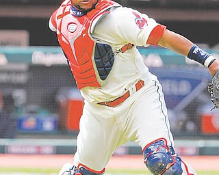 """The Cleveland Indians on Tuesday locked up another """"cornerstone"""" players by signing catcher Carlos Santana to a five-year, $21 million contract."""