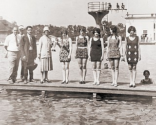 A beauty contest hosted by the Timken Bearing Co. took place at Idora Park's swimming pool.