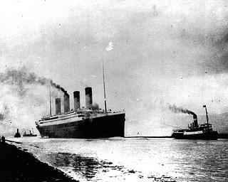 The Luxury liner Titanic departs Southampton, England, prior to her maiden Atlantic voyage on April 10, 1912.  (AP Photo)