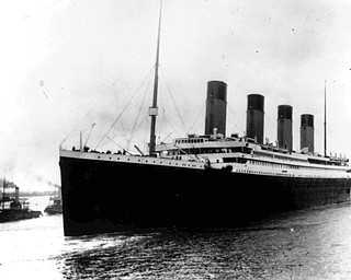 The liner Titanic leaves Southampton, England on her maiden voyage Wednesday, April 10, 1912. (AP photo)