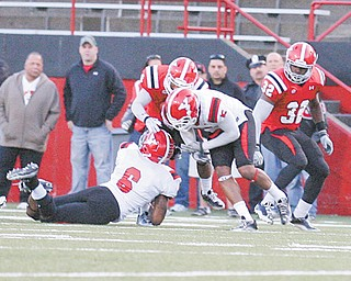 The YSU Penguins will hold their 15th and final spring practice tonight with the coaches emphasizing off season workouts. For the defense, that means working on fundamentals, said sophomore linebacker Travis Williams (6).