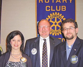 The Rotary Club of Austintown inducted Kristofer Sperry into the club. Proposed by Jerry Haber and inducted by Chuck Baker, member, Sperry's induction took place April 2 at the regular meeting. Sperry is owner of Myrddin Winery and offers local and regional award-winning handcrafted wines. The address is 3020 Scenic Ave., Berlin Center. Above, President Deanna Spirko and Baker welcome Sperry.
