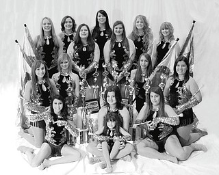 Members of the Northern Strut Twirling Team are, first row, left to right, Jessica Kozar, Adele Colonna, Cassidy Oyler and Jenna Benson; middle row, Tara Schuster, Kathryn Rosinski, Karlie Kowal and Madeline Crish; and back row, Emmy Graffius, Shannon Chaffee, Anngel Benson, Megan Howard, Monica Mattiussi, Emily Combs and Alyssa Thomas. Missing from the photo is Katie Brown, Amanda Orr, Rebecca Platt, Meghan Susko and Jessica Yozwiak.