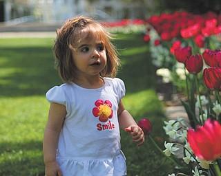 Brittany Schiffauer sent this picture of Sophia Sicilia Testa, 16 months, at Mill Creek Park.