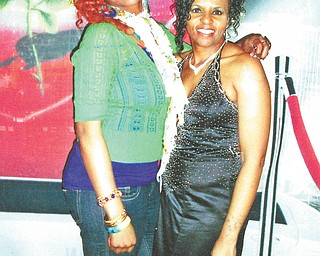 """""""Well, today, as everyday, I just want to say Mom, God had picked you just for me,"""" says La-Meka Allen of Cleveland, left, to her mom, La-Tasha Dendy of Youngstown. Here they are at La-Tasha's surprise 50th birthday party, which took place on La-Meka's birthday."""