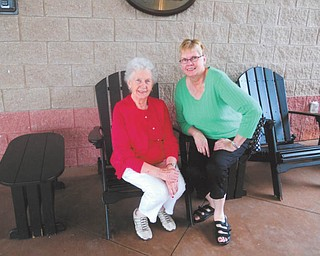 """Taken on a bus trip last year to celebrate her mother's 89th birthday, this photo shows Pat Taylor of Columbiana and her mother, Barbara Krystek. """"I thank God every day that she is still in my life!"""" says Pat."""