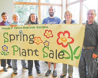 Friends of Fellows Riverside Gardens will have their Spring Plant Sale from 10 a.m. to 6 p.m. Friday and from 10 a.m. to 3 p.m. Saturday at the Gardens, 123 McKinley Ave., Youngstown. Group members, from left, Marge French, Sara Scudier, Ellen Speicher, Dan Buckler, Carol Holt and Dennis Penner are preparing for the event, which supports the continued improvement, preservation and educational role of the Gardens. Group members will have a special preview from 4 to 7 p.m. Thursday, when they will receive a 