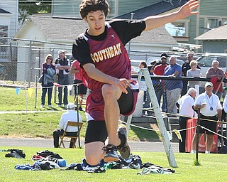 (178) of Southeast does the long jump Thursday afternoon in Salem. - Nick Mays l The Vindicator