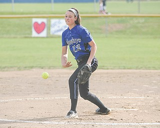 Jackson Milton's Paije Kiraly begins pitching during the first inning in the Bluejays' recent tournament game against the Western Reserve Blue Devils. Kiraly and the Bluejays play Mathews in the Division IV regional 