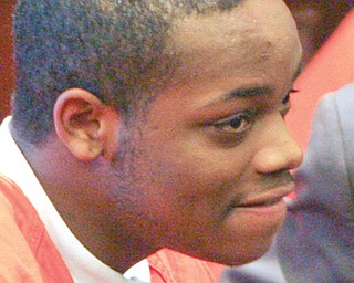 Jamar Houser, shown here during an appearance in Mahoning County Common Pleas Court, has been cleared in the January 2010 murder of Angeline Fimognari in the parking lot of St. Dominic Church on Youngstown's South Side. Houser still must answer to felony charges of shooting into a habitation unrelated to the Fimognari murder.