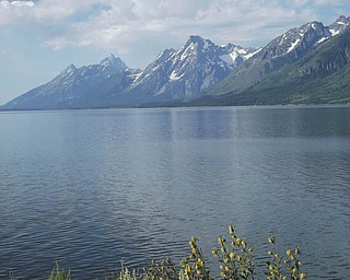 A shot of the Grand Tetons, sent in by Meredith Deichler.