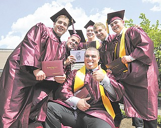 Graduating seniors from Boardman High School's Class of 2012 take time to ham it up in the courtyard of the