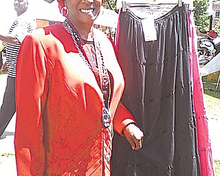 Gwenn Morgan, one of the coordinators of Gospel Sunday at the African-American Achievers Festival in Warren,